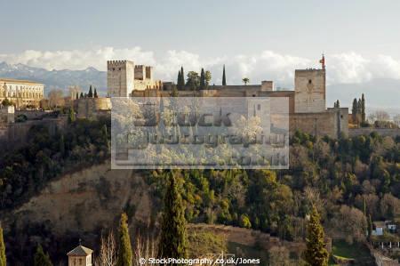 granada spain alhambra mirador san nicolas andalucia spanish espana european andalusia espagne espa fortress palace gardens moorish islamic muslim spanien la spagna
