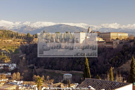 granada spain alhambra palace charles 5th mirador san nicolas andalucia spanish espana european andalusia espagne espa fortress gardens moorish islamic muslim spanien la spagna