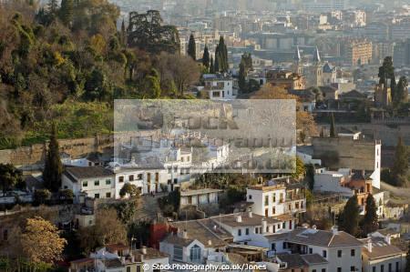 granada spain suburbs mirador san nicolas andalucia spanish espana european andalusia espagne espa fortress palace gardens spanien la spagna