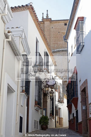 ronda spain typical street moorish old town andalucia spanish espana european espagna andalusia laga malaga costa del sol mediterranean pueblo blanco serrania spanien espa espagne la spagna