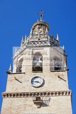 ronda spain collegiate church santa maria la mayor moorish old tower andalucia spanish espana european espagna andalusia laga malaga costa del sol mediterranean pueblo blanco serrania spanien espa espagne spagna