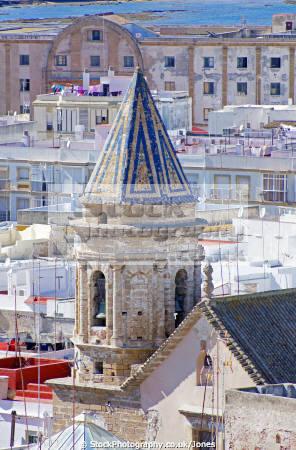 cadiz andalusia spain colourful church tower taken watchtower torre tavira andalucia spanish espana european diz atlantic espagne espa catedral religion religious catholic spanien la spagna