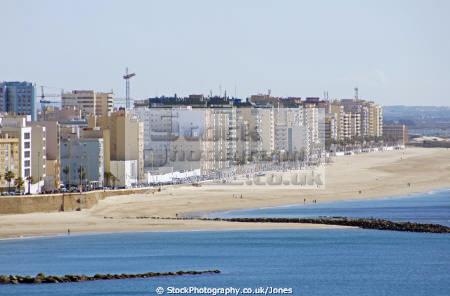 cadiz andalusia spain beach playa la victoria taken watchtower torre tavira andalucia spanish espana european diz atlantic espagne espa sandy spanien spagna