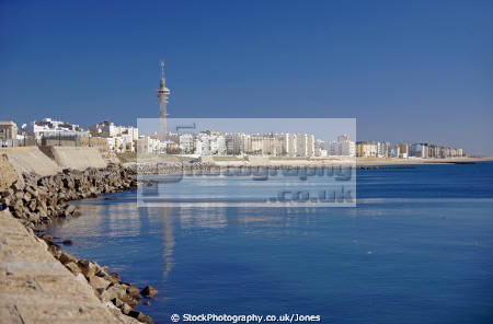 cadiz andalusia spain looking east beach playa la victoria andalucia spanish espana european diz atlantic espagne espa sandy spanien spagna