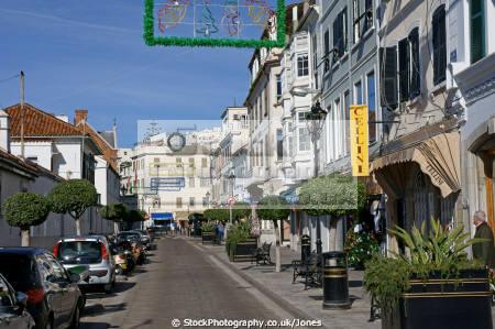 gibraltar main street uk colonies spain spanish espagna andalusia costa del sol united kingdom britain british pillars hercules heracles rock mediterranean gibraltarian