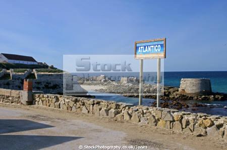 causeway isla las palomas southern spain atlantic ocean mediterranean sea andalucia spanish espana european espagna espa andalusia estepona cadiz costa la luz tarifa spanien espagne spagna