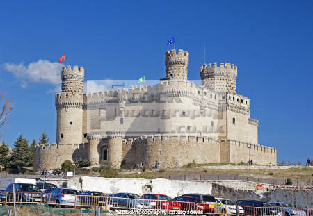 community madrid spain castle mendoza manzanares el real spanish espana european espagne espa fortified mediaeval spanien la spagna