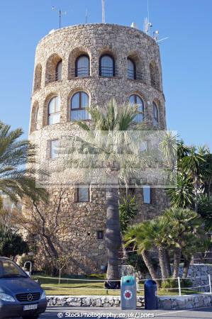 spain torre del duque overlooking harbour puerto ban spanish espana european espagna andalusia estepona laga malaga costa sol mediterranean luxury apartment andalucia spanien espa espagne la spagna