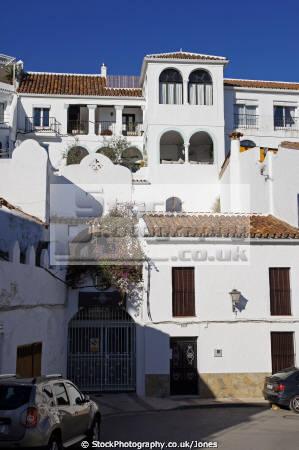 pretty pueblo blanco white village gaucin mountains high costa del sol spain andalucia spanish espana european espagna andalusia estepona laga malaga mediterranean spanien espa espagne la spagna