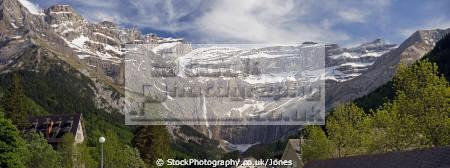 panorama cirque gavarnie french pyrenees landscapes european france hautes midi pyr es lourdes pau mountains alpine cascades waterfalls panoramic la francia frankreich