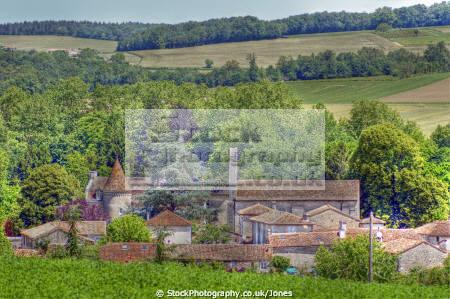 charente france village feuillade french landscapes european poitou charentes charras river bandiat chateau bridge church la francia frankreich