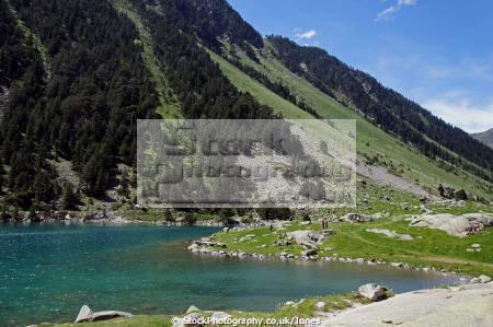 beautiful lac gaube french pyr es landscapes european france hautes midi pyrenees cauterets lourdes pau mountains alpine gave vall lake turquoise la francia frankreich
