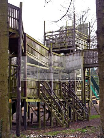 adventure playgound dalkeith country park midlothian scotland uk parks gardens environmental scots scottish children playing wooden perthshire scotch escocia schottland united kingdom british