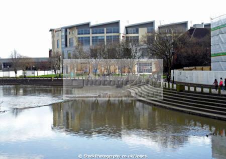 city derby river derwent new bus station uk towns environmental england english britain british derbyshire east midlands angleterre inghilterra inglaterra united kingdom