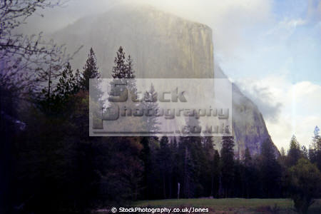 el capitan yosemite valley rain wilderness natural history nature california sierra nevadas mountains alpine np geology earth sciences national park californian united states american