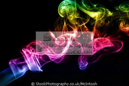 smoke smoking shapes swirls coloured black background abstracts united kingdom british