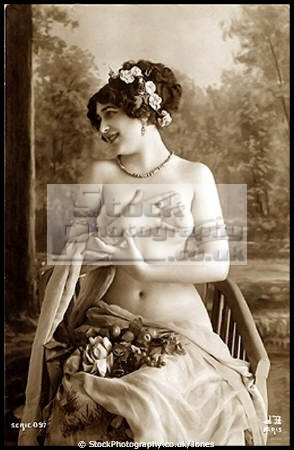 classically themed early 20th century european erotic postcard female sexuality sexually attractive attraction women woman females feminine womanlike womanly womanish effeminate ladylike nude naked beautiful pretty sexy sexual sensual erotica artistic edwardian victorian sepia provocative saucy arty art classical pinup pin paris parisienne france la francia frankreich french