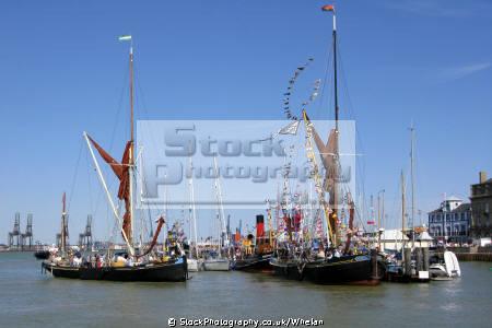 barges harwich maritime festival boats marine fireboat essex england english angleterre inghilterra inglaterra united kingdom british