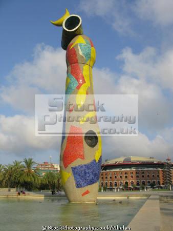 modern art sculpture parc du joan miro barcelona catalunya catalonia spanish espana european scultpure spain spanien espa espagne la spagna
