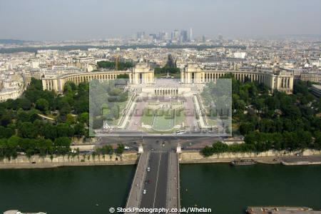 palais challiot seen eiffel tower french buildings european paris parisienne france la francia frankreich
