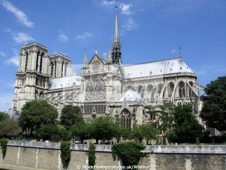 classic view notre dame french buildings european cathedral paris parisienne france la francia frankreich