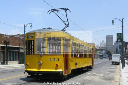 streetcar memphis transport transportation tennessee tram united states american