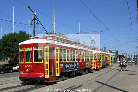 streetcars new orleans american yankee streetcar tram louisiana southern state united states