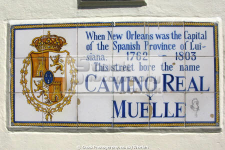 spanish era street sign new orleans american yankee louisiana southern state united states