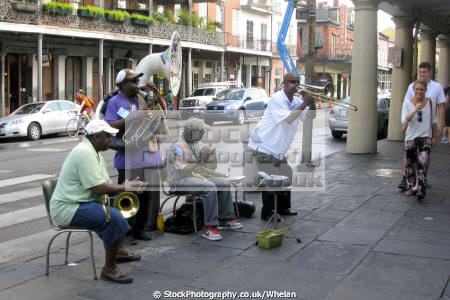 jazz street new orleans american musicians usa french quarter big easy louisiana southern state united states