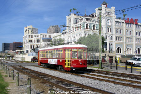 streetcar river line new orleans american yankee tram french quarter louisiana southern state united states
