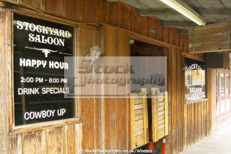 saloon stockyard area fort worth history science wild west texas united states american