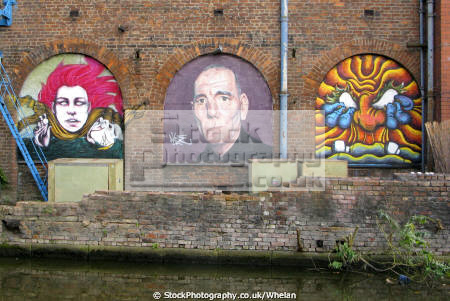 mural old warehouse huddersfield narrow canal east manchester mancunian north west northwest england english angleterre inghilterra inglaterra united kingdom british