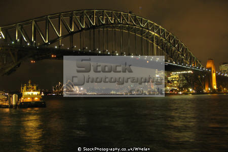 sydney harbour bridge night australian australia