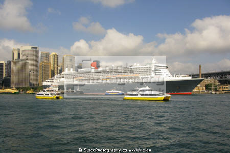 queen mary cruise ship sydney harbour transport transportation australia australian