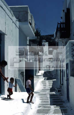 children going play greek european travel fun memories playtime backstreet mykonos greece island dodcanese islands europe
