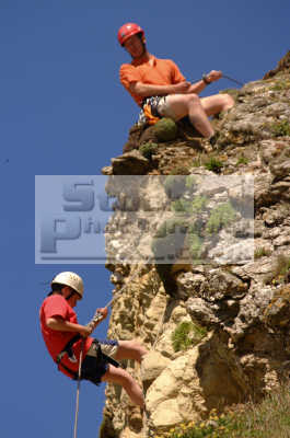 climbers abseil training extreme sports adrenaline sporting uk climbing newquay cornish cornwall england english angleterre inghilterra inglaterra united kingdom british