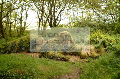 lost gardens heligan reclining nude forest called lady mud gardening horticulture tourist attractions england english uk sculpture cornish cornwall angleterre inghilterra inglaterra united kingdom british
