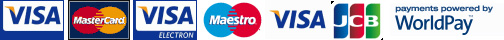 Powered by Worldpay - we take Visa, Mastercard, Maestro and JCB